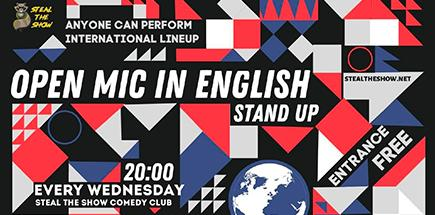 Steal the Show. English Stand-up Open Mic