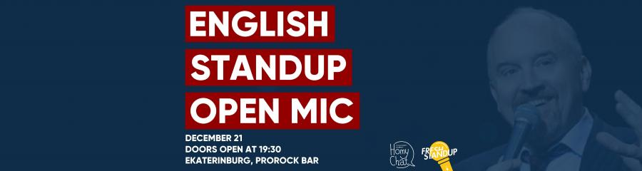Fresh Stand-Up English Open Mic